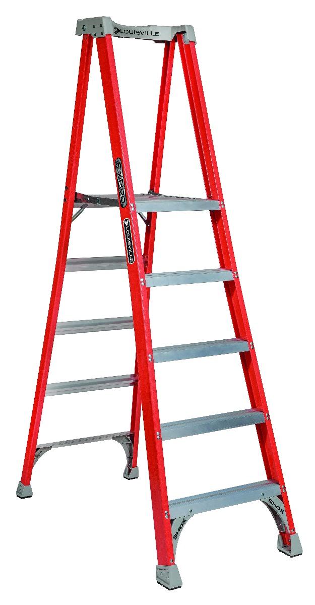 Louisville 5' Fiberglass Pro Platform Ladder 300lbs. Capacity