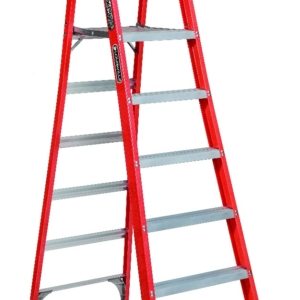 Louisville 6' Fiberglass Pro Platform Ladder 300lbs. Capacity