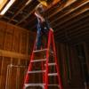 Louisville 12' Fiberglass Pro Platform Ladder 300lbs. Capacity