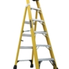 Louisville 6' Fiberglass Step to Shelf Ladder 375lb. Capacity