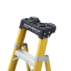 Louisville 6' Fiberglass Step to Shelf Ladder 375lb. Capacity