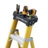 Louisville 10' Fiberglass Step to Shelf Ladder 375lb. Capacity