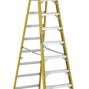 Louisville 12' Fiberglass Step to Shelf Ladder 375lb. Capacity