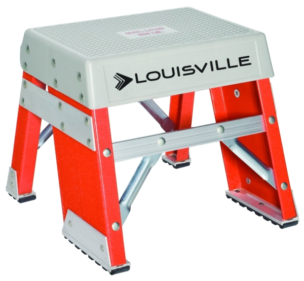 Louisville 1' Fiberglass Industrial Step Stool 300lbs. Capacity