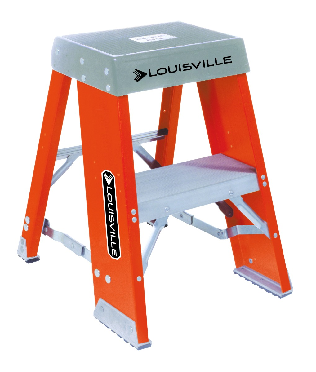 Louisville 2' Fiberglass Industrial Step Stool 300lbs. Capacity