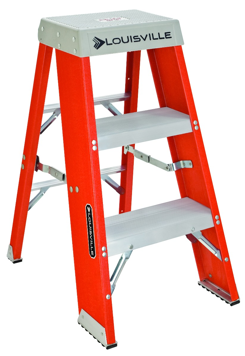 Louisville 3' Fiberglass Industrial Step Stool 300lbs. Capacity