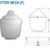 """Acrylic Textured Street Globe H- 19.87' W- 15.40"""" ID-7.13"""" OD- 9.12"""""""