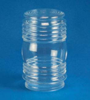 "Acrylic Clear Jelly Jar H- 6.00"" W- 3.50"" ID- 2.81"" OD- 3.14"" (Fitter Neck)"
