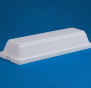 "Acrylic White Security Enclosure H- 2.44"" W- 4.53"" L- 13.83"""