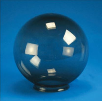 "Smooth Acrylic Smoke Sphere DIA- 6"" ID- 2.81"" OD- 3.14"" (Fitter Neck)"