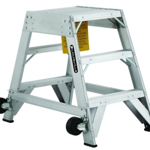 Louisville 3' Aluminum Twin Front Rolling Ladder