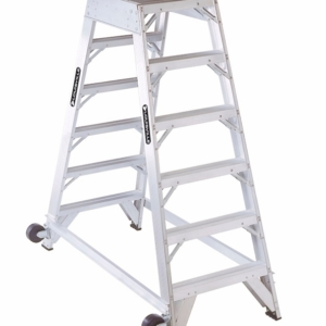 Louisville 6' Aluminum Twin Front Rolling Ladder