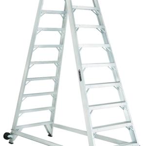 Louisville 10' Aluminum Twin Front Rolling Ladder