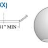 Smooth  Acrylic Smoke Sphere (Custom Neck)