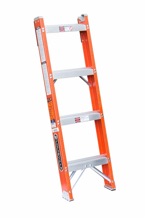 Louisville 4' Fiberglass Shelf Ladder 300lbs. Capacity