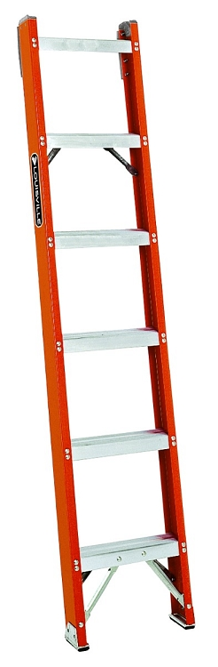 Louisville 6' Fiberglass Shelf Ladder 300lbs. Capacity