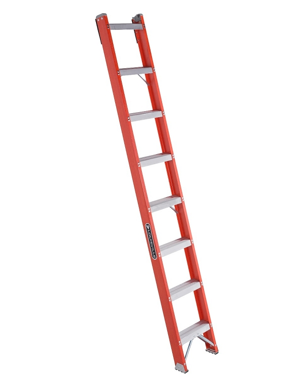 Louisville 8' Fiberglass Shelf Ladder 300lbs. Capacity