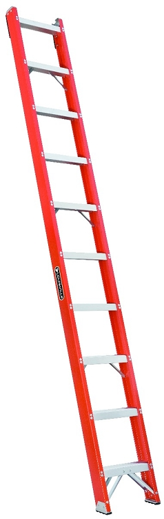Louisville 10' Fiberglass Shelf Ladder 300lbs. Capacity