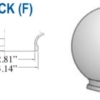 """Smooth Acrylic Clear Sphere DIA- 6"""" ID- 2.81"""" OD- 3.14"""" (Fitter Neck)"""
