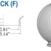 """Prismatic Acrylic Clear Sphere DIA - 6"""" ID - 2.81"""" OD - 3.14"""" (Fitter Neck)"""