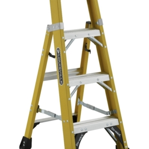 Louisville 4' Fiberglass Step to Shelf Ladder 375lb. Capacity