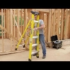 Louisville 4' Fiberglass Step to Shelf Ladder 375lb. Capacity