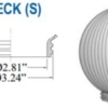 "Prismatic Acrylic Clear Sphere DIA - 6"" ID - 2.81"" OD - 3.24"" (Screw Neck)"