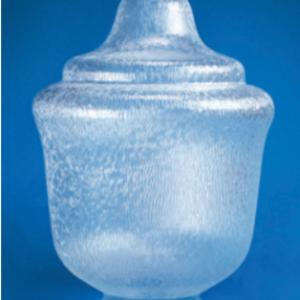 "Clear Acrylic Textured Street Lamp Globe H-20.69"" W-15.40"" ID-7.13"" OD-7.94"""
