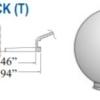 """Smooth Acrylic Clear Sphere DIA-8"""" ID- 3.46"""" OD- 3.94"""" (Twist Lock)"""