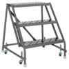 Louisville 3' Steel Rolling Warehouse Ladder 450 lbs. Capacity No Handrails