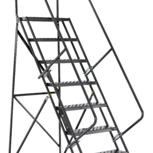 Louisville 8' Steel Rolling Warehouse Ladder 450lbs. Capacity With Handrails