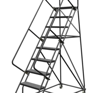 Louisville 9' Steel Rolling Warehouse Ladder 450lbs. Capacity With Handrails