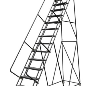 Louisville 14' Steel Rolling Warehouse Ladder 450lbs. Capacity With Handrails