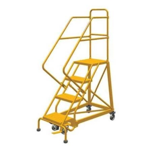 Louisville 4' Heavy-Duty Steel Warehouse Ladder 450lbs. Capacity
