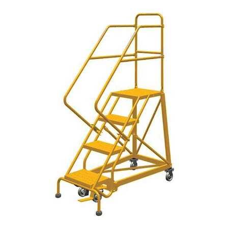 Louisville 4' Heavy-Duty Steel Warehouse Ladder 450lbs. Capacity