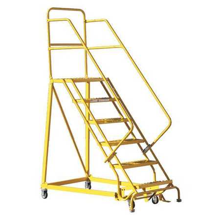 Louisville 6' Heavy-Duty Steel Warehouse Ladder 450lbs. Capacity