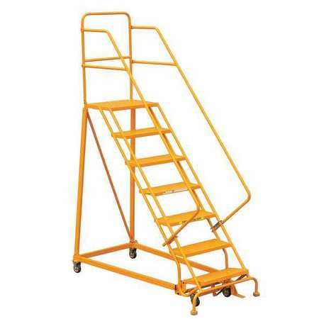 Louisville 7' Heavy-Duty Steel Warehouse Ladder 450lbs. Capacity