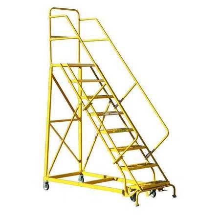 Louisville 8' Heavy Duty Steel Warehouse Ladder 450lbs. Capacity