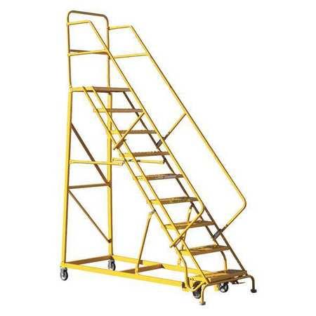 Louisville 9' Heavy-Duty Steel Warehouse Ladder 450lbs. Capacity