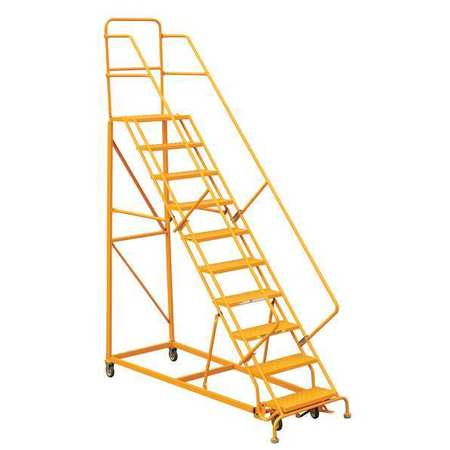 Louisville 10' Heavy-Duty Steel Warehouse Ladder 450lbs. Capacity