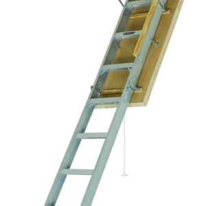 "Louisville Aluminum Attic Step Ladder 22 1/5"" X 54"" Rough Opening - Pinnacle Series 375lbs. Capacity"