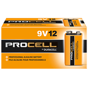 PROCELL DURACELL 9V BATTERIES