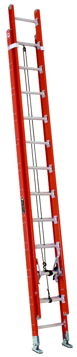 Louisville 24' Fiberglass Multisection Extension Ladder 300lbs. Capacity