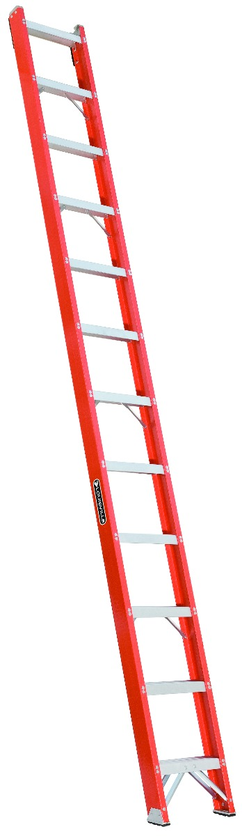 Louisville 12' Fiberglass Shelf Ladder 300lbs. Capacity