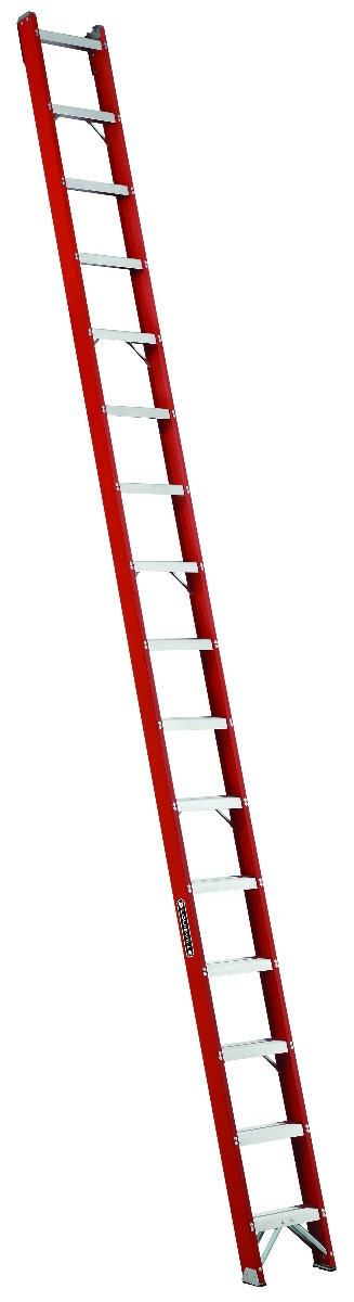 Louisville 16' Fiberglass Shelf Ladder 300lbs. Capacity