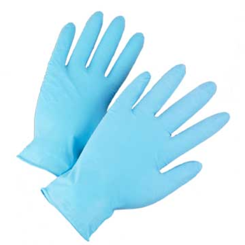 4 Mil Industrial Grade Powder Free Blue Nitrile Gloves, Size Small